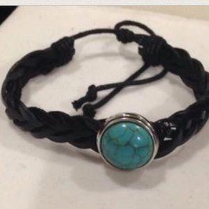 Jewelry - Black leather bracelet